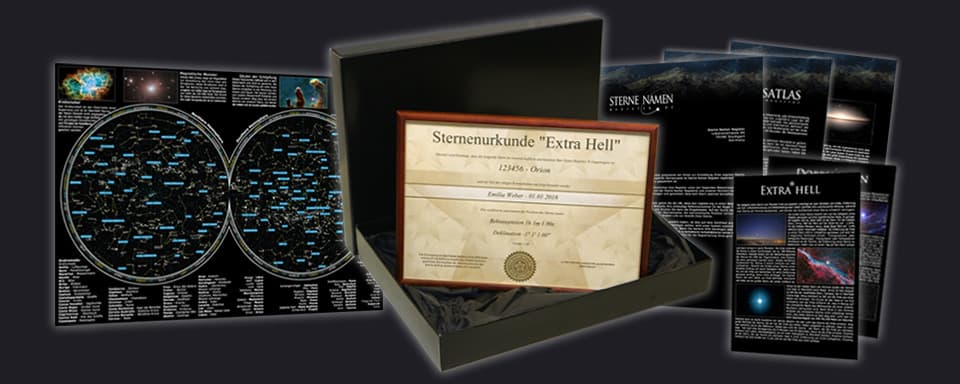Extra hellen Stern Geschenk Set Package